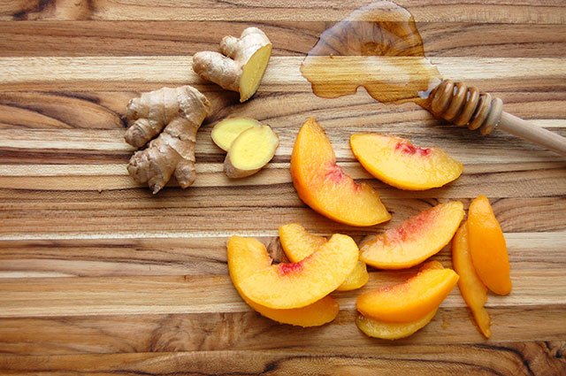 ginger peach smoothie ingredients