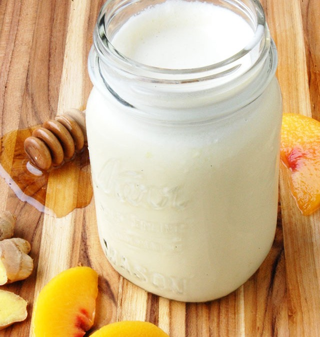Ginger Peach Smoothie for Wellness