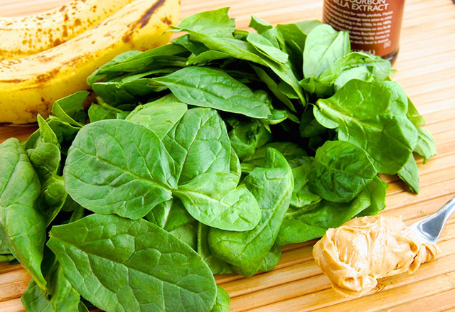 spinach and peanut butter