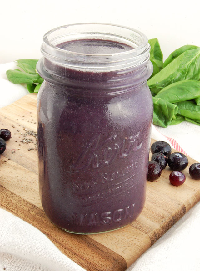 This blueberry pineapple smoothie will leave you feeling energized and healthy. Antioxidants from the blueberries and vitamin C from the pineapple pick you up and keep you going.