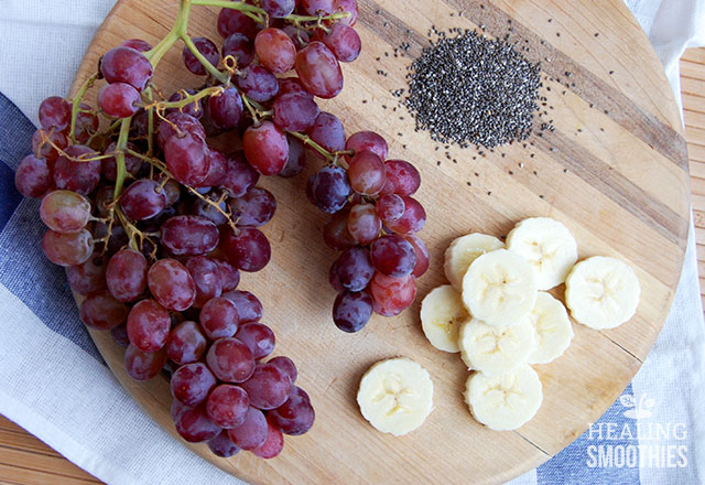 Red Grapes and Banana